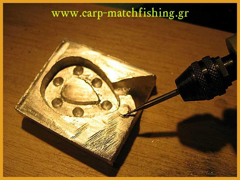 www.carp-matchfishing.gr. Κατασκευή καλουπιού για βαρίδι ψαρέματος