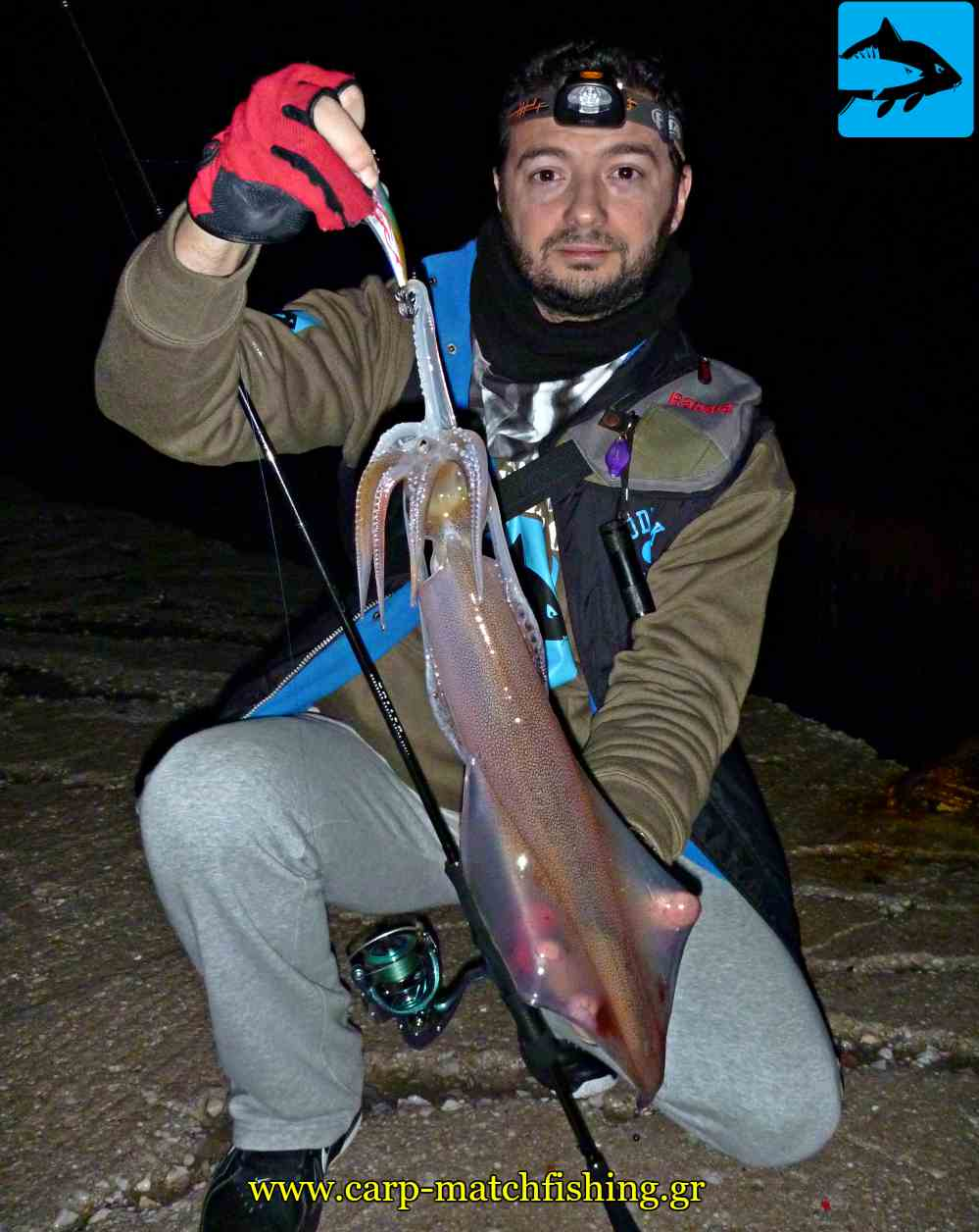 eging sfaltos squid ocean ruler gourounakia kalamarieres carpmatchfishing
