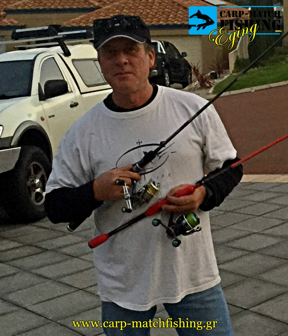 squid fishing eging 2 rods carpmatchfishing