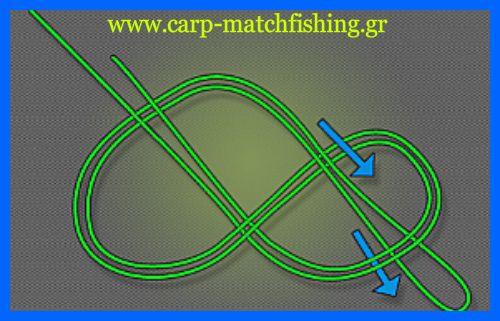 figureof8-3.jpg/Ο κόμπος οχταράκι, ή ο κόμπος του 8, είναι ένας από τους πιο δυνατούς και αξιόπιστους κόμπους, ειδικά όταν θέλουμε να φτιάχνουμε θηλιές για τα παράμαλα ή για τους συνδέσμους μας στις αρματωσιές. Ειδικά στο ψάρεμα του κυπρίνου χρησιμοποιείται για τα παράμαλα όταν θέλουμε να τους εφαρμόσουμε σάκους pva, σε συνδέσμους ταχείας απε.λευθέρωσης