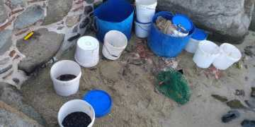 36χρονος ψάρευε ολοθούριο χωρίς άδεια